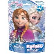 Disney Frozen 48 piece Puzzle features Anna & Elsa