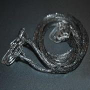 V&V Silikonová ramínka k podprsence Makaron - šedá s glitrama (šedá s glitrama) - V&V