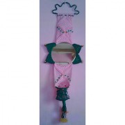 Hand Made Wall Decorative Mirror Pink And Green