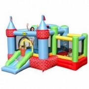 Saltea gonflabila castel cu loc de joaca cu bile Happy Hop