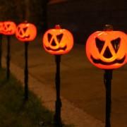 5 db kerti LED Halloweeni tök világítás narancssárga