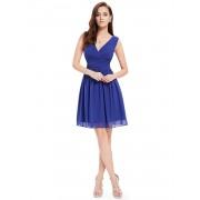 Jednoduché modré šaty