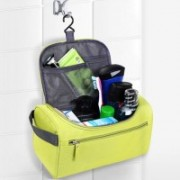House of Quirk Hanging Fabric Travel Toiletry Bag Organizer and Dopp Kit Hanging Bag Travel Toiletry Kit(Green)