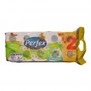 Hartie igienica Perfex musetel 3 straturi 8 + 2/set