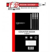 Freedom A4 Feint and Margin 1 Quire Counter Book