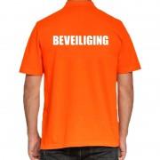Shoppartners Beveiliging poloshirt oranje voor heren
