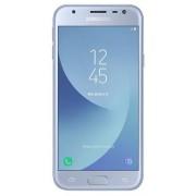 "Telefon Mobil Samsung Galaxy J3 (2017), Procesor Quad-Core 1.4GHz, PLS TFT LCD 5"", 2GB RAM, 16GB, 13MP, 4G, Wi-Fi, Dual Sim, Android (Silver Blue) + Cartela SIM Orange PrePay, 6 euro credit, 6 GB internet 4G, 2,000 minute nationale si internationale fix s"