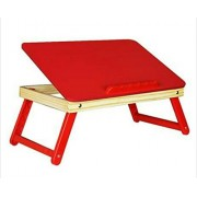 onlyyes-ST-R-02P- kids study desk-table/ adjustable,foldable (reading & writing,craft work,eating,painting,drawing) laptop desk table for bed (red)