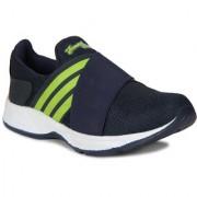 Smartwood men Navyblue Parrot Green Slip on running sport shoes