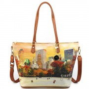 Y Not? Borsa Donna Y NOT Shopping a Spalla con Tracolla YES-397 New York Central Park