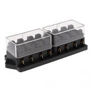 ELECTROPRIME® 12V/24V 8 Way Standard Circuit ATC ATO Car Auto Blade Fuse Box Block Holder