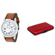 Danzen wrist watch for mens with Red card case -cdz-419