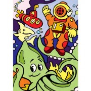 Royal & Langnickel Junior Mini Paint By Number Kit: 5x7 Underwater Diving/My First