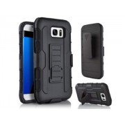 Rugged Case with Holster Belt Clip for Samsung Galaxy S7 edge - Samsung Impact Case (Classic Black)