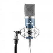 Auna MIC-900BLMicrophone à condensateur USB studio -bleu