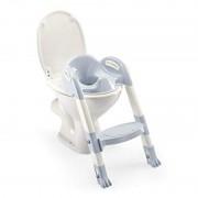 Reductor toaleta cu scarita Kiddyloo Thermobaby, maxim 60 kg, 18 luni+, Albastru