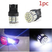 AST Works 1X New White T20 7443 W21/5W 1206 50SMD Car Tail Turn Braket Parking LED Lamp H7