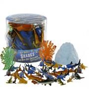 Sharks and Deep Sea Creatures Action Figure Bucket - Huge 41 Piece Set