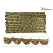 Utkarsh WG0019 Golden Lace Patta Gota Patti Mini Golden Balls Machine Made Embroidery 0.5 Inch Width 9 Mtr Long Reel