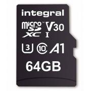 Card de memorie Integral 70V30 64GB Micro SDXC Clasa 10 UHS-I + Adaptor SD
