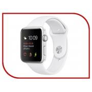 Умные часы APPLE Watch Series 2 42mm Silver with White Sport Band MNPJ2RU/A