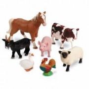 Set animale de la ferma - figurine mari pentru bebelusi