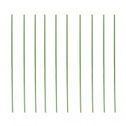 ELECTROPRIME 10pcs 11mm Plant Support Vine Stakes Vines Grow Stick Green Stakes 60cm