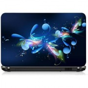 VI Collections RAY FLOWER AND BUTTERFLY PRINTED VINYL Laptop Decal 15.5