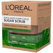 L'oreal sugar scrub esfoliante purificante viso-labbra con cristalli fini di zucchero 50 ml