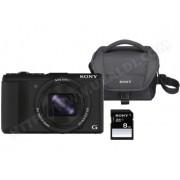 SONY Appareil photo numérique compact CyberShot DSC-HX60B noir + Housse + SD 8Go