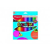 Creioane colorate Maped COLOR`PEPS, 24 buc./pachet