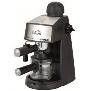 Espressor Samus Alegria, 3.5 bari, Rezervor 0.24 L, Capacitate 4 ceşti, Filtru inox, Dispozitiv spumare, Cană gradată, Negru