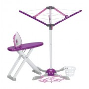 Laundry Day Playset Includes Iron, Ironing Board, Laundry Basket, Clothes Dryer, And Hangers