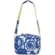 Jujube 13 inch Laptop Messenger Bag(White, Blue)