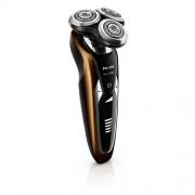 Aparat de ras S9511/31, 1 accesoriu, 3 capete, Autocuratare, Maro/Negru