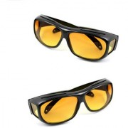 HD Wrap Night Vision Glasses Best Quality Yellow Color Real Club Glasses In Best Price 1Pcs. (AS PER SEEN ON TV)