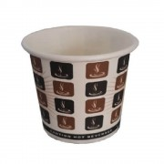 Pahare din Carton 4 Oz Model Cafea (120 ml), 100 Buc/Bax