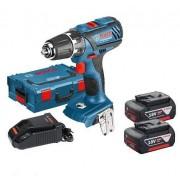 Винтоверт акумулаторен GSR 18-2-LI Plus, 18 V, 2x40 Ah, 63 / 24 Nm, 1.49 kg, 06019E6121, BOSCH