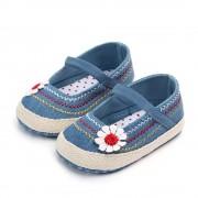 Pantofi fetite floricica albastrii 6-12 luni