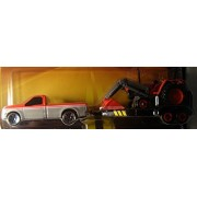 Maisto Adventure Wheels Lil Farm Trucks and Trailers Red Truck, Trailer and Front-Loader Tractor
