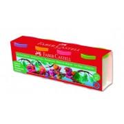 Plastilina, 4 culori/set, 4x130g, FABER CASTELL Neon