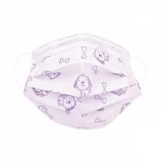 Masca chirurgicala protectie copii 6 - 12 ani, in 3 straturi cu 3 pliuri , prindere cu elastic, pachet 10 bucati, diverse modele