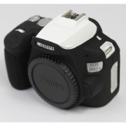 Soft Silicone Case Protector for Canon EOS 200D II Camera - Black