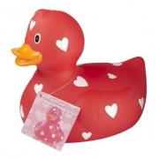 Merkloos Rode badeend valentijnsdag 25 cm