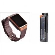 Zemini DZ09 Smart Watch and Selfie Stick for SAMSUNG GALAXY S6 ACTIVE(DZ09 Smart Watch With 4G Sim Card Memory Card| Selfie Stick)