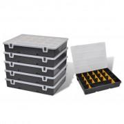 vidaXL Cutii organizator pentru depozitare scule 6 bucăți