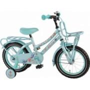 Bicicleta Copii Volare Tattoo 14 inch cu Roti Ajutatoare Aqua