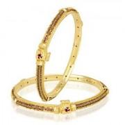 VK Jewels Glam Shine Gold Plated Bangles- BG1078G [VKBG1078G]