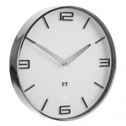 Ceas de perete Future Time FT3010WH Flat white, de design, diam. 30 cm