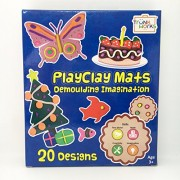 PlayClay Mats - Play with Clay/Play Doh/Play dough. Develop fine motor, numbers, imagination, creativity. Unique creative prompts.